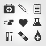 Medizinische Ikone, flaches Design Stockfotos