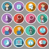 Medizinische Ikone im flachen Design Stockbilder