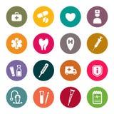 Medizinische Ikonen Lizenzfreie Stockfotos