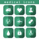 Medizinische Ikonen Lizenzfreies Stockbild