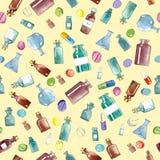 Medizinische Ikonen des Aquarells Stockbilder