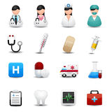 Medizinische Ikonen eingestellt  Lizenzfreie Stockfotos