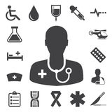 Medizinische Ikonen eingestellt. Illustration Stockfotografie