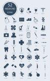 Medizinische Ikonen Einkaufsumbauten und -ikonen Lizenzfreie Stockbilder