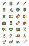 Medizinische Ikonen - Farbe Lizenzfreies Stockfoto