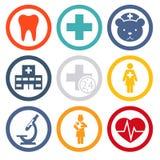 Medizinische Ikonen stellten ein Lizenzfreie Stockbilder