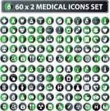 Medizinische Ikonen, Tastenweb-Set Lizenzfreies Stockfoto