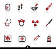 Medizinische Ikonenserie Stockfotos