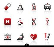 Medizinische Ikonenserie Stockbilder