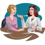 Medizinische Illustrationsfrau am Doktor Stockfoto