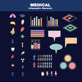 Medizinische infographic Elemente stockfotos