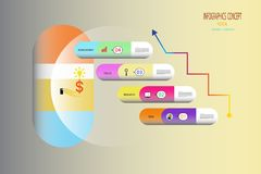 Medizinische infographics Marktstrategie medizinisch und Wissenschaft Stockfotografie