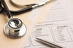 Medizinische Informationen Stockbild