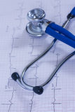 Medizinische Innerprüfung mit Stethoskop Lizenzfreie Stockfotos