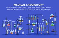 Medizinische Laborausstattung mit Glasflasche vektor abbildung