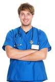 Medizinische männliche Krankenschwester/Doktor lizenzfreie stockbilder