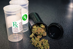 Medizinische Marihuana-Kappe Stockfotografie