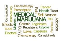 Medizinische Marihuana-Wort-Wolke Stockfoto