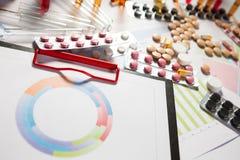 Medizinische Marketing- und Gesundheitswesenunternehmensanalyse berichten mit g Lizenzfreie Stockbilder