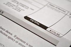 Medizinische Rechnung Stockfoto