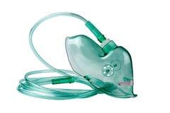 Medizinische Sauerstoffmaske auf einem weißen Hintergrund Lizenzfreie Stockbilder