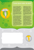 Medizinische Schablone Stockbild