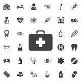Medizinische Taschen-Ikone - Vektor Stockfotografie