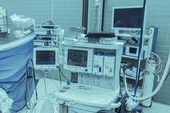 Medizinische Technologiemonitoren Stockfoto