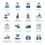 Medizinische u. Gesundheitswesen-Ikonen stellten 1 - Dienstleistungen ein Lizenzfreie Stockfotografie