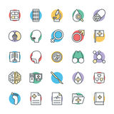 Medizinische und Gesundheits-kühle Vektor-Ikonen 4 Lizenzfreies Stockfoto