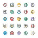 Medizinische und Gesundheits-kühle Vektor-Ikonen 2 Stockbilder