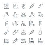 Medizinische und Gesundheits-kühle Vektor-Ikonen 1 Lizenzfreie Stockfotografie
