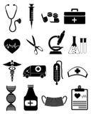 Medizinische und Gesundheitspflege Ikonen stock abbildung