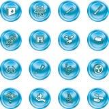 Medizinische und wissenschaftliche Ikonen. Lizenzfreies Stockbild