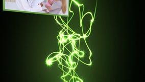 Medizinische Videos mit Lichtstrahlen vektor abbildung