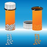Medizinische Vorbereitungen mit der Bank Pillen und Drogen für gute Gesundheit Stockfotos