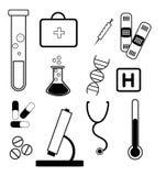 Medizinischer Bedarf und Symbole Stockfotografie