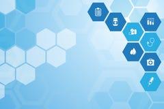 Medizinischer blauer Hintergrund Stockbilder