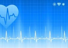 Medizinischer blauer Hintergrund Stockfoto