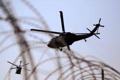 Medizinischer Evakuierung-Hubschrauber im Irak Stockbild