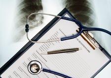 Medizinischer Fragebogen Stockbild