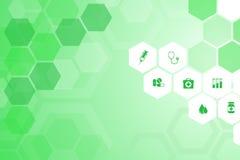 Medizinischer grüner Hintergrund Stockfotografie