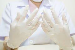 Medizinischer Handschuh zum Schutz Lizenzfreie Stockfotos