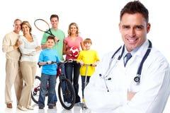 Medizinischer Hausarzt und Patienten lizenzfreies stockbild
