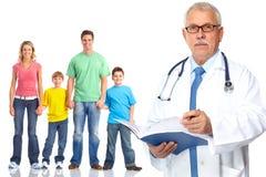 Medizinischer Hausarzt und Patienten lizenzfreie stockbilder