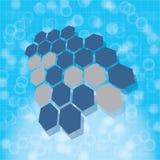Medizinischer Hintergrund der abstrakten Moleküle Stockfoto