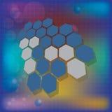 Medizinischer Hintergrund der abstrakten Moleküle Lizenzfreie Stockfotos