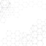 Medizinischer Hintergrund der abstrakten Moleküle mit Kopienraum () lizenzfreie abbildung