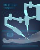 Medizinischer Hintergrund Die Zukunft der Chirurgie Vektor Stockbilder