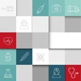 Medizinischer Hintergrund - Quadrate lizenzfreie abbildung